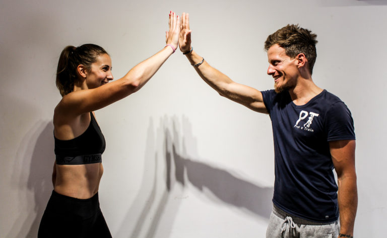 Personal trainer in Putney with client